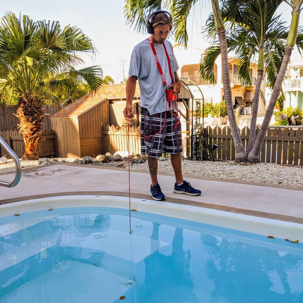 leak detection for pool resurfacing EcoFINISH™️